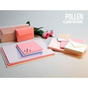 Clairefontaine Pollen Etui de 25 Feuilles 21 x 29,7 cm 210 g Blanc