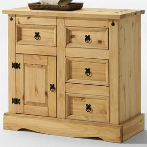 BUFFET - BAHUT  Buffet commode apothicaire style mexicain pin fint