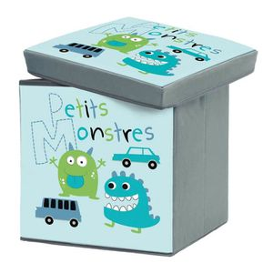 COFFRE - MALLE Pouf-coffre de rangement Petits Monstres