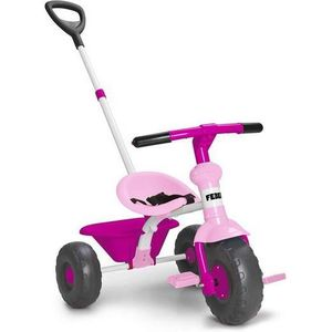 PORTEUR - POUSSEUR FEBER - Baby Trike rose - tricycle -800012140