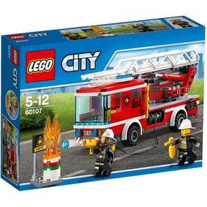 ASSEMBLAGE CONSTRUCTION LEGO® City 60107 Le Camion de Pompiers avec Échell