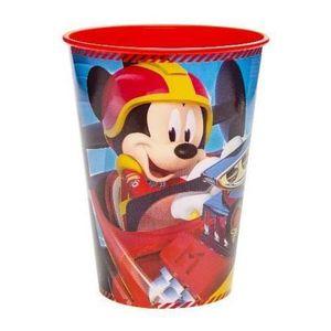 Verre à eau - Soda Verre en Plastique Mickey et ses Amis : Top Départ