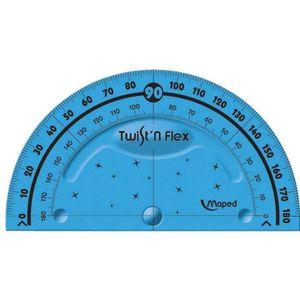 RAPPORTEUR - COMPAS Rapporteur Twist'n Flex 180 degrés 10 cm Coloris