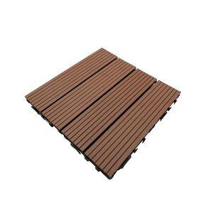 REVETEMENT EN PLANCHE Dalle de terrasse bois composite Modular 30 x 30 c
