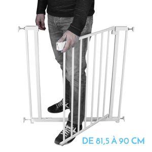 BARRIÈRE DE SÉCURITÉ  Barrière de sécurité extensible de 81.5 cm à 90 cm