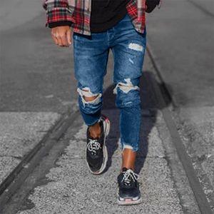 JEANS Jeans Homme troué tapered Pantalon Classique Slim