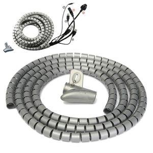 GOULOTTE - CACHE FIL 2M Ø15mm Gaine Tube Spirale Range Cache Câble Fil
