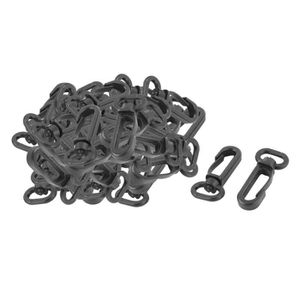 EMERILLON Plastic Bag Tent Band Strapping Clasp Snap Hook Sw