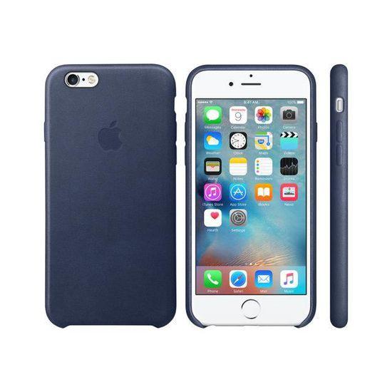 coque en cuir pour iphone 6s bleu nuit
