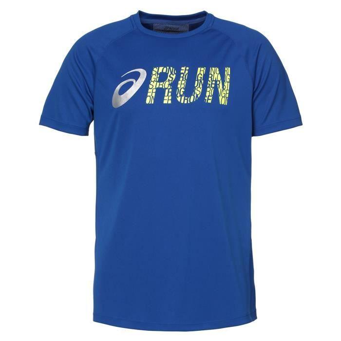 ASICS Graphic Tee shirt manches courtes Homme - Bleu