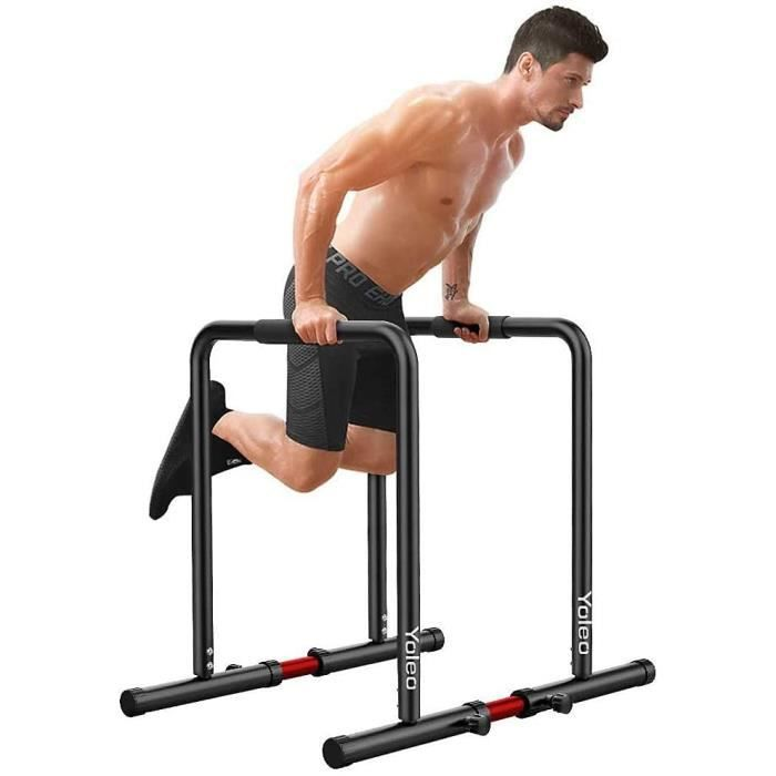 Station de Musculation Fitness Barres Dip Parallèles Réglables pour Entraînements de Poids Gym Street Workout, 130KG(MAX)