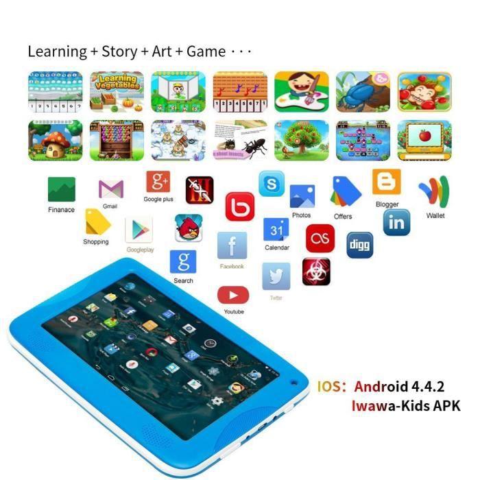 """7"""" plus récent Inch Kids Android 4.4 Tablette Caméra Pc Quad Core Hd Wifi pour les enfants @Yinmgmhj5768"""