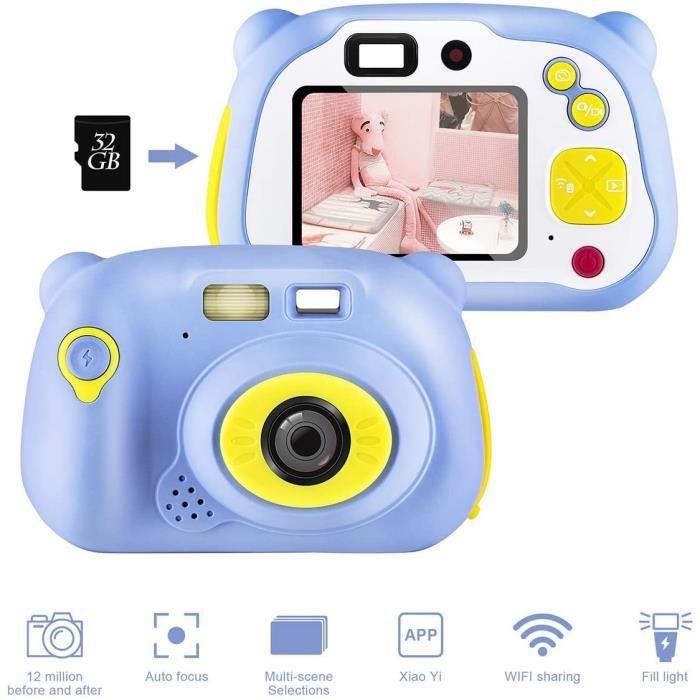 Appareils Photos Numériques pour Enfants, 12 Mégapixels 2720P HD 2.0 Pouces Écran Couleur Appareil Photo Enfants Selfie Caméra, avec