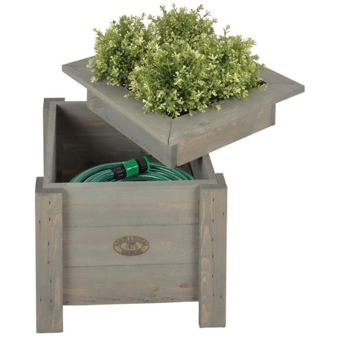 Pots et cache-pots Esschert Design Jardiniere avec rangement de tuyau 2-en-1 NG47