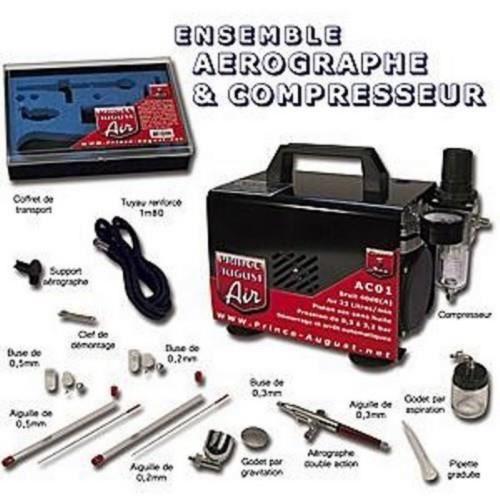 Pack Aérographes & compresseurs AE01 + Ultra Cleaner offert