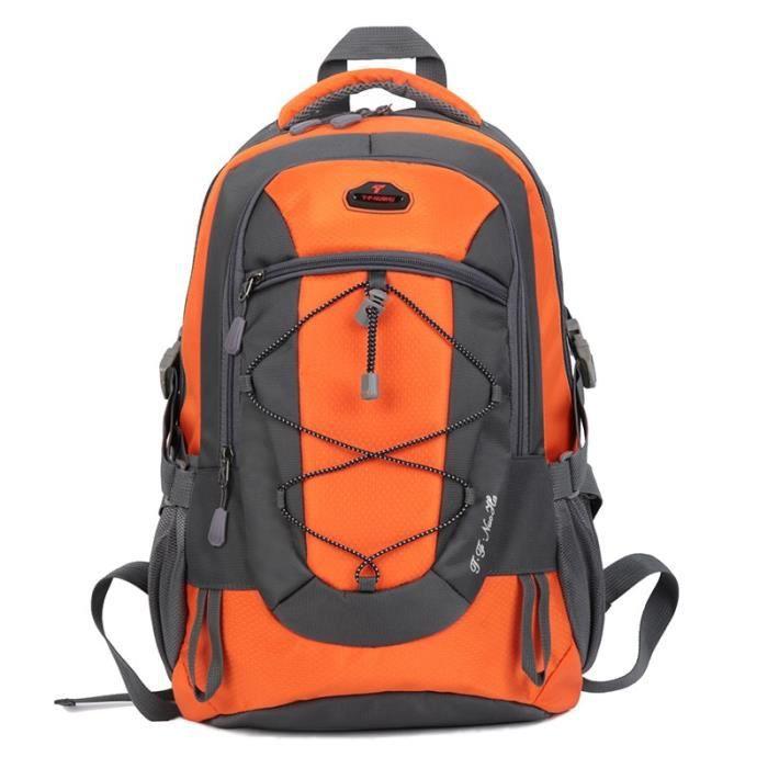 orange 30 - 40L -Sac à dos étanche de 30l pour hommes et femmes, pour voyage, Camping en plein air, escalade, randonnée, Sport