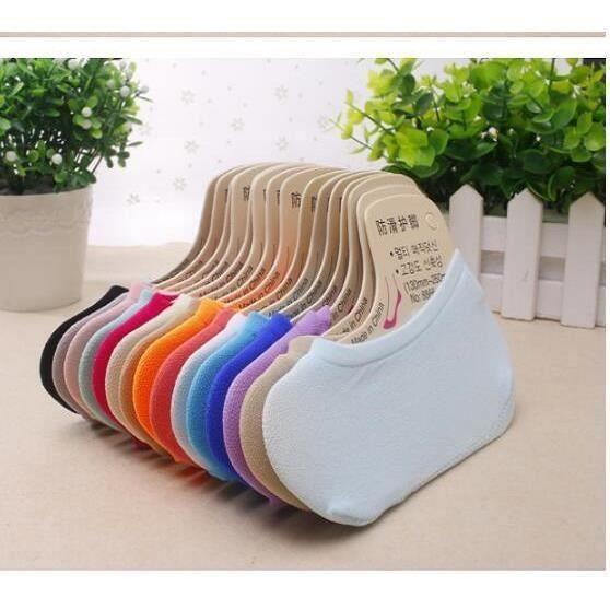 kingwing® 15 pair chaussettes de bateau de couleur de bonbon de fille de silicone