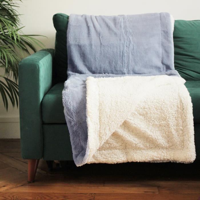 PLAID COCOON 130 x 170 cm 610 g/m² - Couleur ASHLEY BLUE