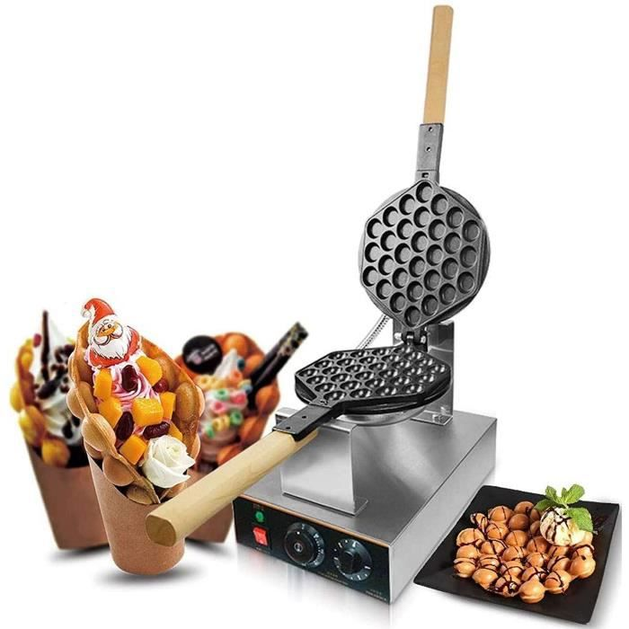 GAUFRIER ZXYY Bubble Waffle Maker Commercial Electric Hong Kong Egg Gaufrier Thermostat Manuel en Acier Inoxydable antiadheacute712