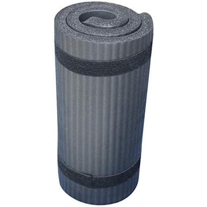 Tapis de yoga antidérapant noir Tapis de fitness ultra épais de 15 mm 60x25x1,5 cm