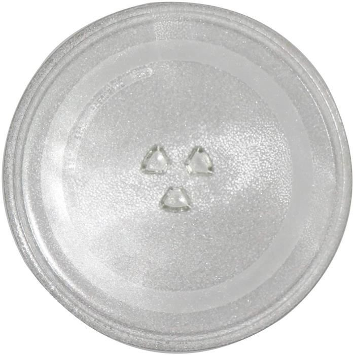 MICRO ONDES Plateau en verre de rechange pour micro-ondes, diam&egravetre de 31,5 cm, r&eacutesistant &agrave la chaleur et &87