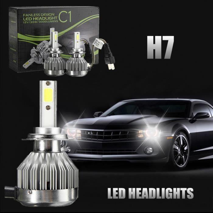 BO 2 x H4 60W COB LED Phare voiture Ampoule lampe Conversion Salut - Lo faisceau 6000K H7