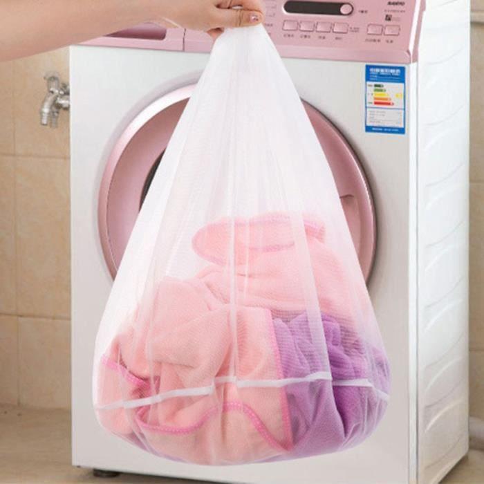 Filet De Lavage,Sacs à filet à linge Sac à linge, cordon de serrage, aide à la Machine à laver, sacs à mailles pour - Type S