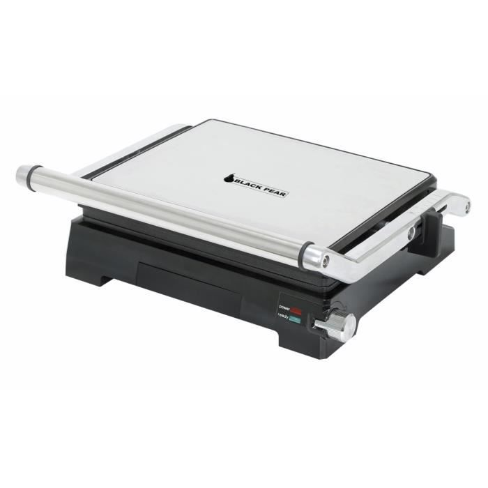 Grill Spécial Panini Anti-Adhesif Cuisson Double Face 2000W