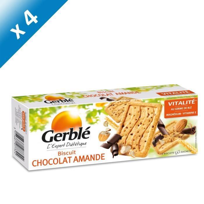 [LOT DE 4] Biscuits choco amande 200 g Gerblé