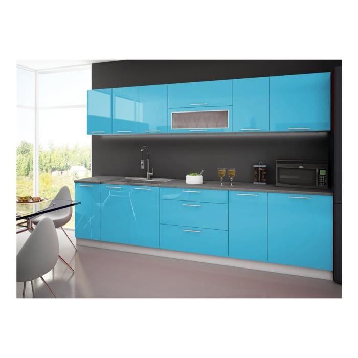 Cuisine complète LYDIA 300cm - Bleu Turquoise