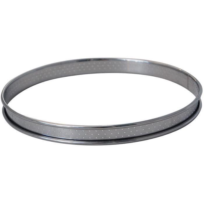Cercle à tarte perforé à bords roulés 10 cm