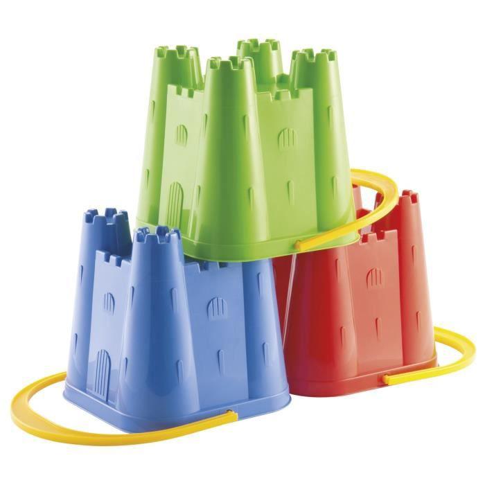 ECOIFFIER SUMMER Seau Château Fort 14 cm - modèle aléatoire