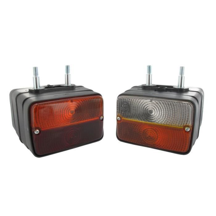 Feu latéral avant/arrière adaptable - L: 120mm, H: 80mm