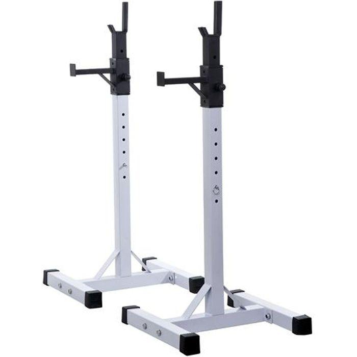 Stockage/support de musculation entrainement pour barre longue haltere charge max 200kg 14