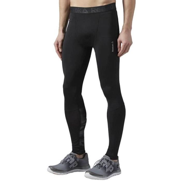 Collant de Compression Running Noir Homme Reebok