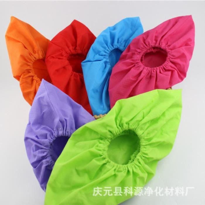 10 paires de couvre-chaussures en tissu non tissé lavable épaisses antidérapantes couvre-pied intérieur PORTE-CARTES - POCHETTE