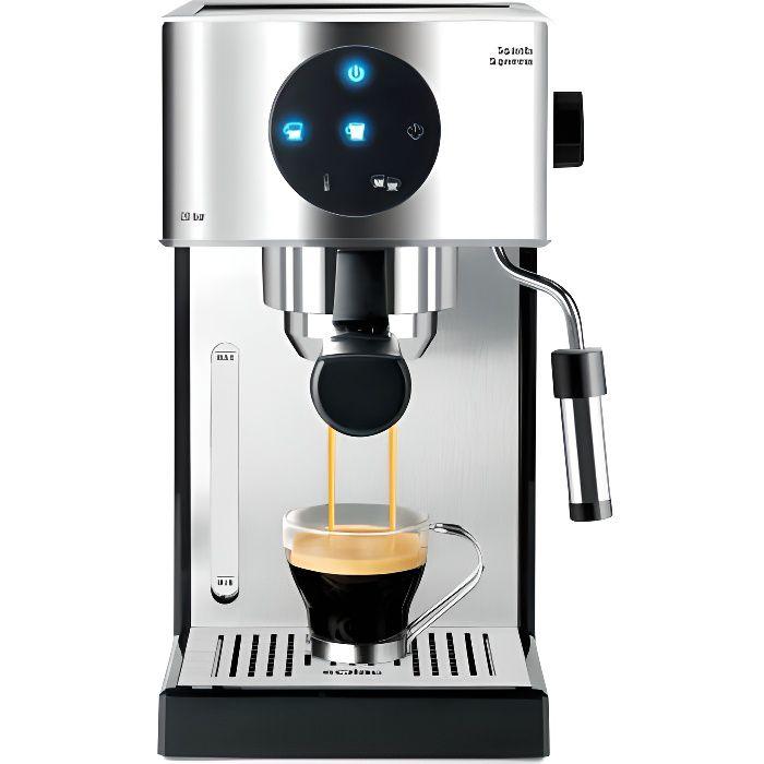SOLAC Squissita Supremma - Machine à expresso compacte - 1000W - 20 bars - Système double Cream - Commande LED - Chauffe tasse Inox