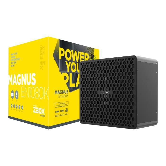 ZOTAC ZBOX E Series MAGNUS EN1080K Barebone mini ordinateur de bureau 1 x Core i7 7700 - 3.6 GHz GF GTX 1080 GigE LAN sans fil:…