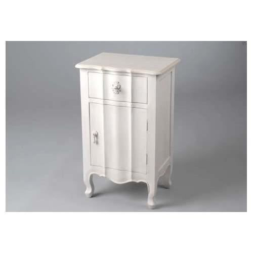 Table de chevet blanche elegance achat vente chevet table de chevet blanc - Table de chevet blanche ...