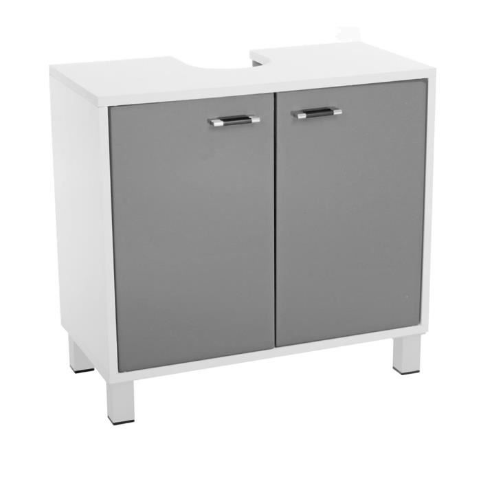 meuble dessous de lavabo gris achat vente meuble vasque plan meuble dessous de lavabo gr. Black Bedroom Furniture Sets. Home Design Ideas
