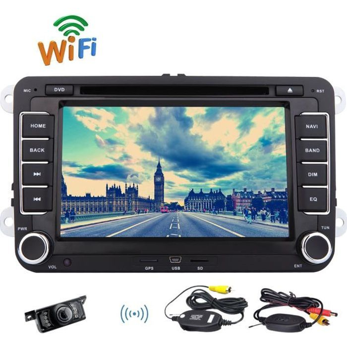 cam ra de recul sans fil gratuit eincar android 6 0 lecteur dvd de voiture pour vw passat cc. Black Bedroom Furniture Sets. Home Design Ideas