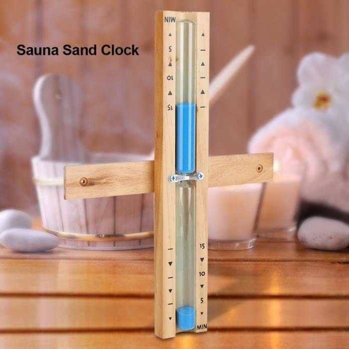 Salle de Sauna Domestique Acouto Sablier Sauna Salle de Sauna Horloge sablier Horloge sablier 15 Minutes pour Salle de Sauna en Bois et Verre de qualit/é sup/érieure
