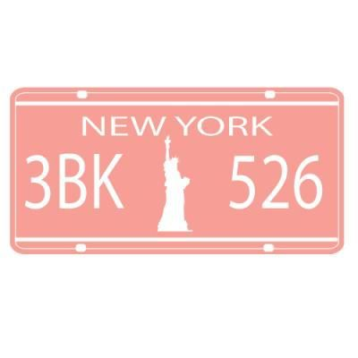 sticker plaque immatriculation new york 8 achat vente stickers cdiscount. Black Bedroom Furniture Sets. Home Design Ideas