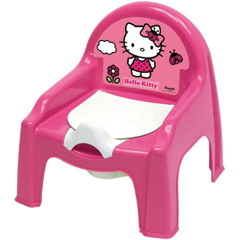Chaise petit pot de chambre b b hello kitty achat for Pot de chambre enfant