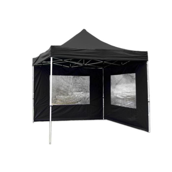 stand tente pliable parapluie 3 x 3 m noir achat vente pied support stand stand tente. Black Bedroom Furniture Sets. Home Design Ideas
