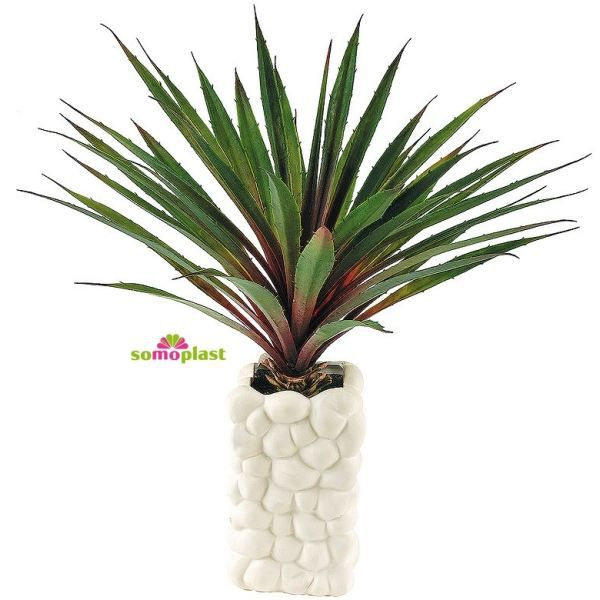 plante verte artificielle yucca avec vase des achat vente fleur artificielle c ramique. Black Bedroom Furniture Sets. Home Design Ideas