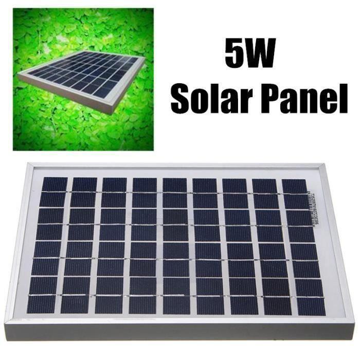 KIT PHOTOVOLTAIQUE 5W Silicium Polycristallin 18V Panneaux Solaires M
