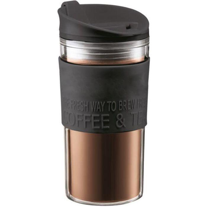 Fiole à vide noir en acier inoxydable soft grip 0.5 litres thermos camping voyage neuf