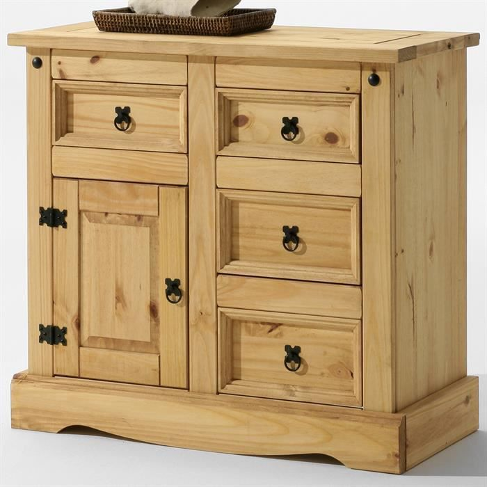 Buffet commode apothicaire style mexicain pin fintion for Meuble en pin