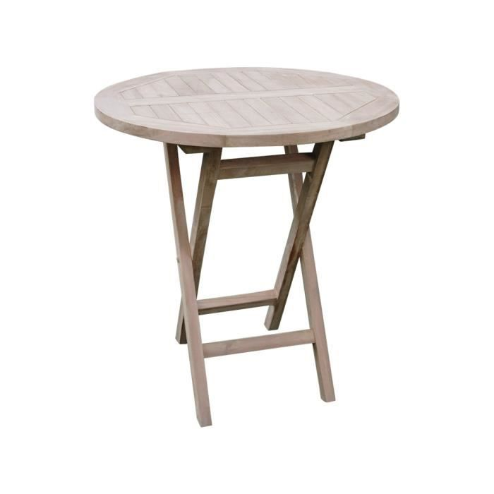 Table Ronde Pliante Pati Achat Vente Table De Jardin Table Ronde Pliante Pati Cdiscount